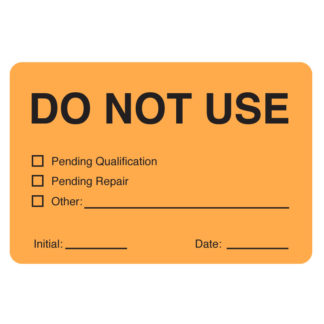 writable Self laminating calibration labels legend do not use