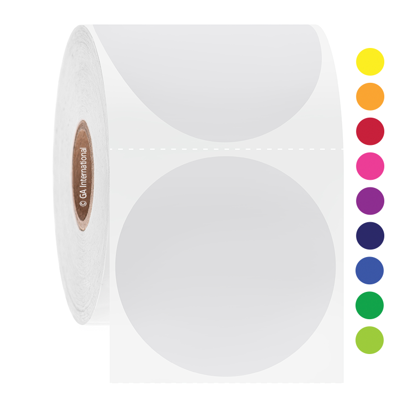 Chemical-Resistant Color Labels – Permanent – 2″ circle #ZAUA-132 image